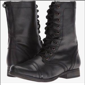 Steve Madden Troopa NWOT black military boots 7